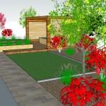 Sandyford Garden Drawing