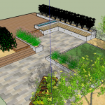 Foxrock Garden Drawing