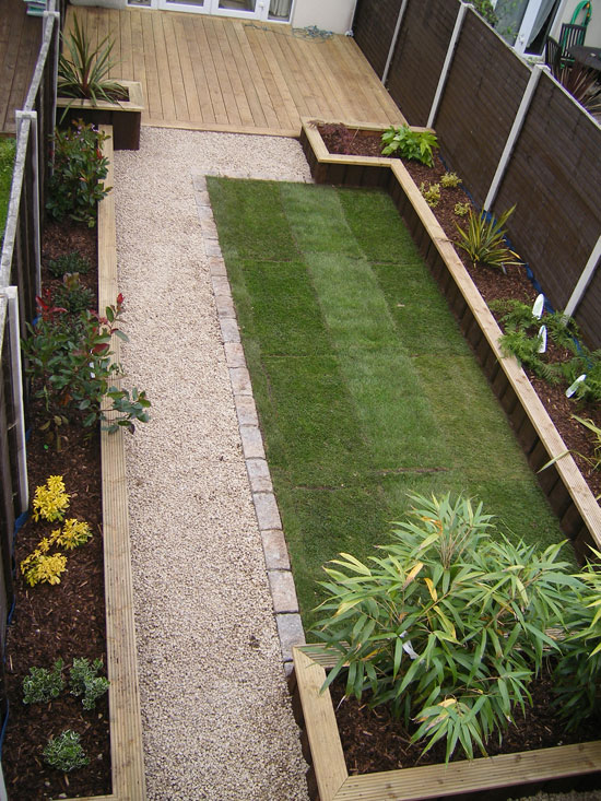 Glasnevin decking project for Images of back garden designs