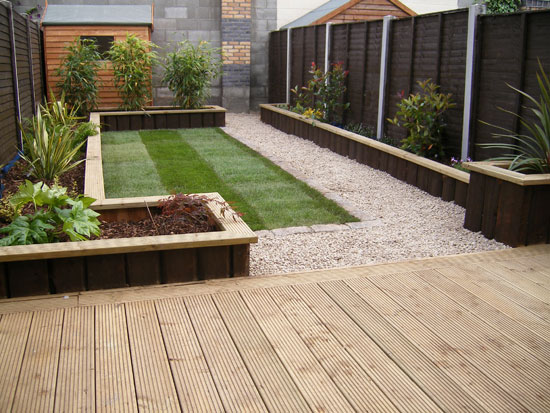 Glasnevin decking project for Back garden designs uk