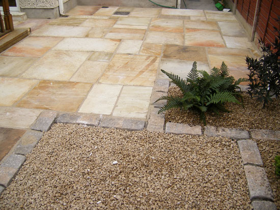 Finglas garden patio paving project for Paved garden designs